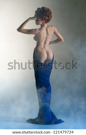Beautiful body of the young woman - stock photo