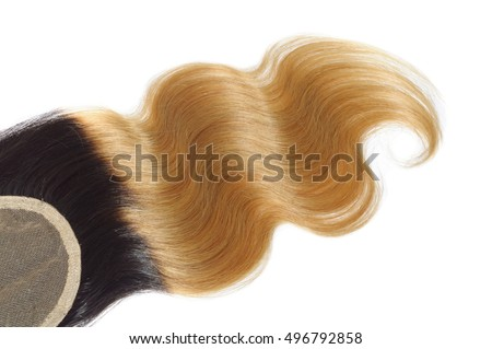 beautiful body wave ombre two tone black with dark blonde virgin  remy human hair extensions for wavy wigs