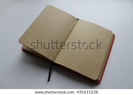 beautiful book with blank pages on white background - stock photo