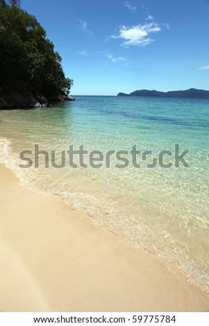 Beautiful Borneo Beach Strip, Malaysia! - stock photo