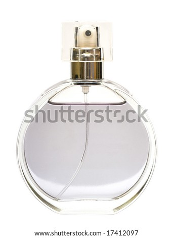 beautiful bottle of perfume isolated