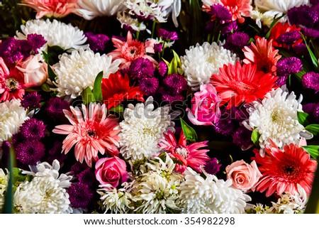 Beautiful  bouquet  flower - stock photo