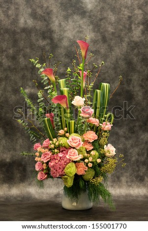 Beautiful bouquet for celebration and wedding. - stock photo