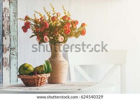 Beautiful Bouquet Flowers Vase On Table Stock Photo Royalty Free