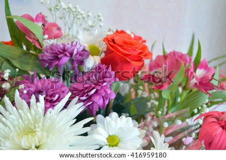 Beautiful bouquet of flowers, shallow dof