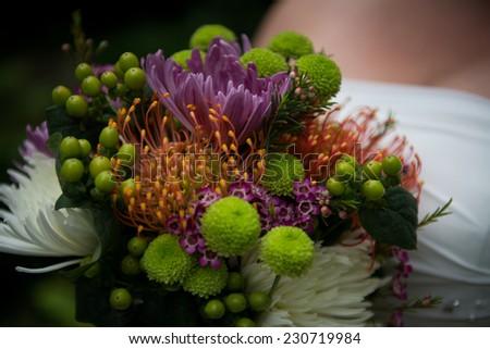 Beautiful bridal bouquet - stock photo