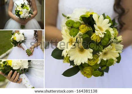beautiful bridal bouquet of flowers