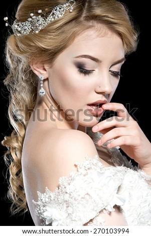 Beautiful bride. - stock photo
