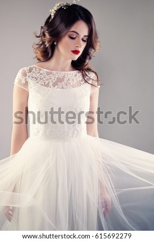 Beautiful Bride White Wedding Gown Young Stock Photo (Edit Now ...