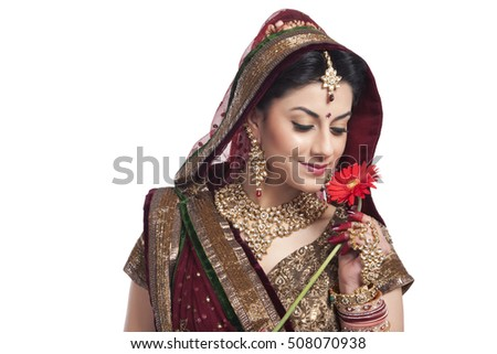 Beautiful bride with a flower