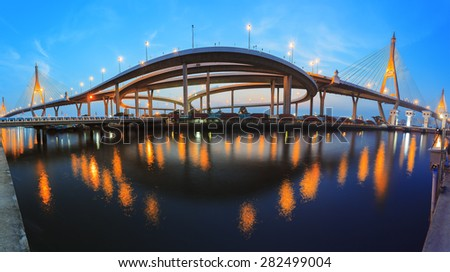Beautiful Bridge, in Bangkok, Thailand - stock photo