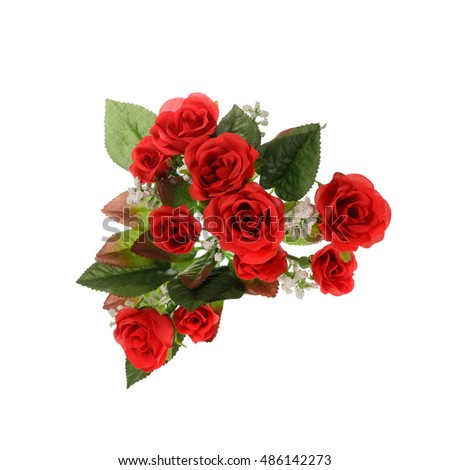 beautiful bright bouquet of roses on a white background