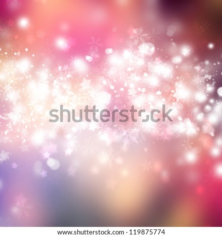 Beautiful bright snowflake background with copyspace
