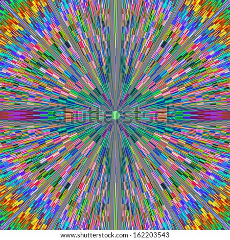 Beautiful Brightly Colored Geometric Fractal Pattern