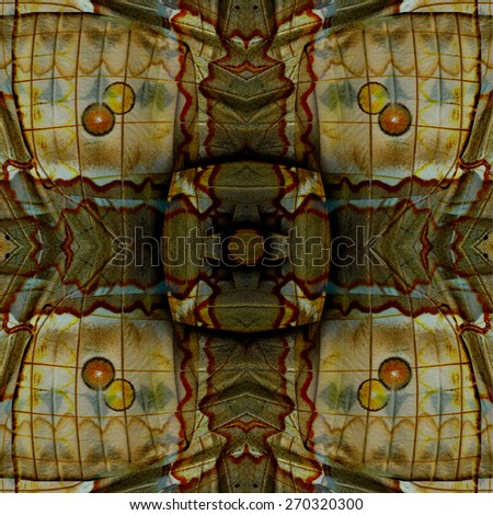 Beautiful brown and spots background made of Cambodian Junglequeen butterfly's wing texture - stock photo