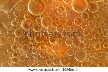 Beautiful bubbles in molten sugar - stock photo