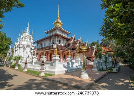 Beautiful Buddha Temple lanna style in the Thailand Wat