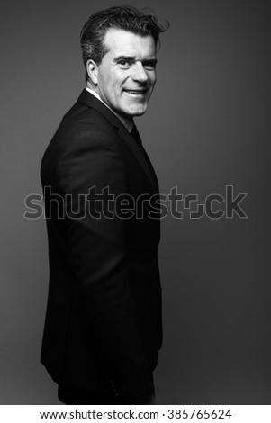 Beautiful business man - stock photo