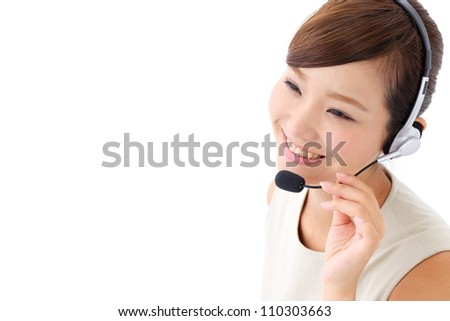 Beautiful business operator. Portrait of asian woman.