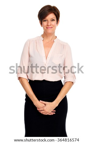 Beautiful business woman. - stock photo