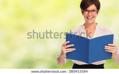 Beautiful business woman. - stock photo