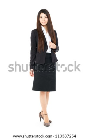 Beautiful business woman. Portrait of asian.