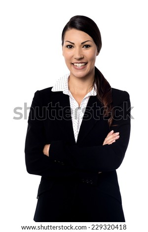 Beautiful business woman with arms crossed