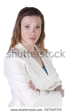 Beautiful Businesswoman Posing with her arms crossed - stock photo
