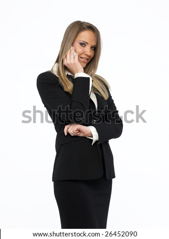 Beautiful businesswoman talking on mobil phone