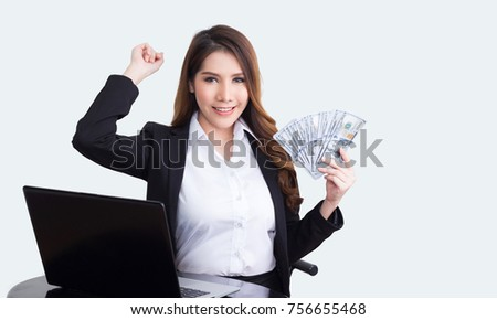 Beautiful  businesswoman working concept  isolated on white background