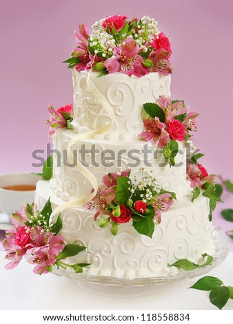 beautiful cake - stock photo