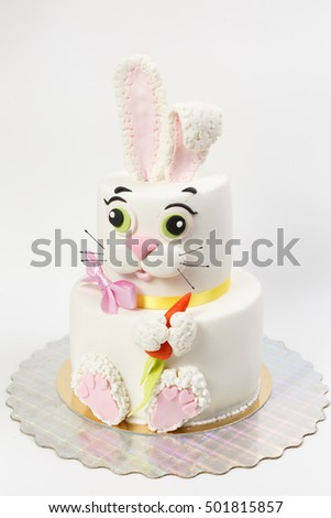 beautiful cake on a white background