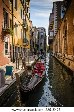 Beautiful canal in Venice,Italy. - stock photo