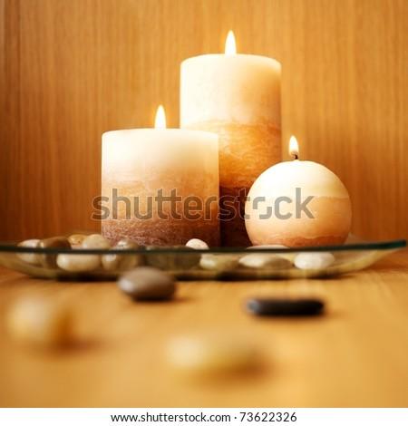 Beautiful candle design - stock photo