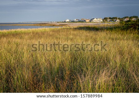Beautiful Cape cod in sunset - stock photo