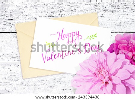 Beautiful card for congratulation - stock photo