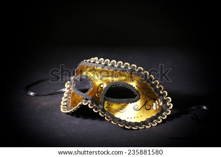Beautiful carnival mask isolated on black