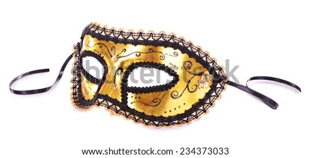 Beautiful carnival mask isolated on white