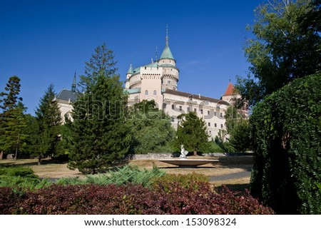 Beautiful castle in Bojnice,?? Slovakia, Europe