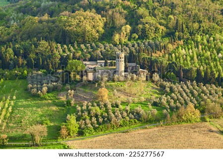 beautiful castle in the town of orvieto