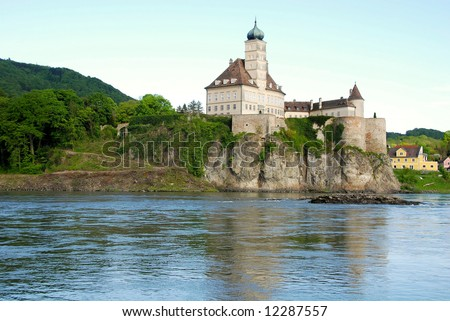 beautiful castle Schonbuhel on the Danube,Austria - stock photo