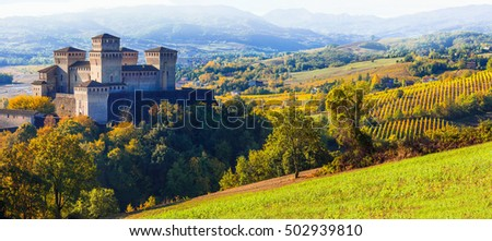 Beautiful castles of Italy - medieval castle of Torrechiara, Parma