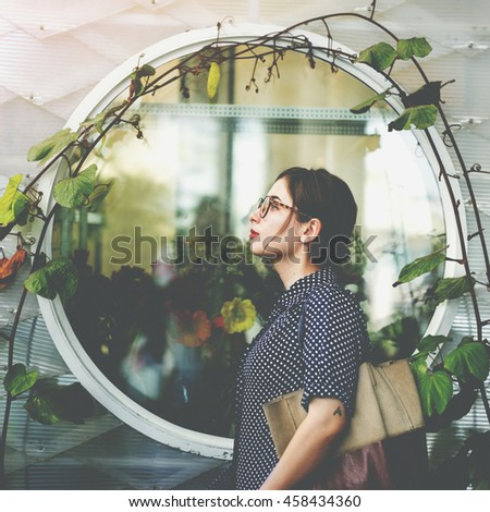 Beautiful Casual Activity Calm Fresh Chilling Concept - stock photo