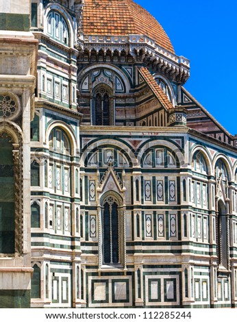 Beautiful cathedral Santa Maria del Fiore in Florence, Italy - stock photo