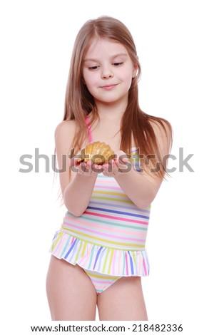 Beautiful Caucasian Little Girl Wearing Pink Stock Photo ... - photo #16