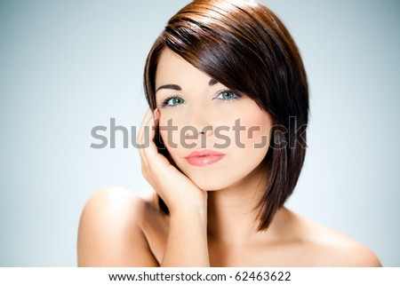 Beautiful caucasian woman - stock photo