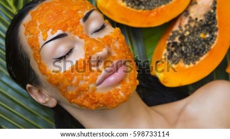 Fresh papaya facial