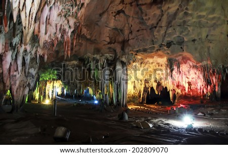 Beautiful cave in Thailand - stock photo
