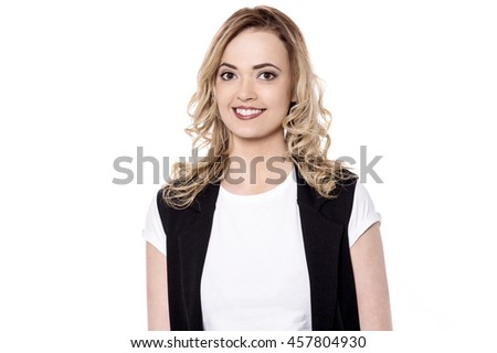 Beautiful charming caucasian female model - stock photo