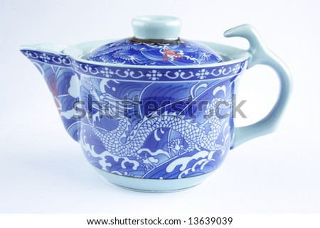 Beautiful Chinese teapot in white back ground